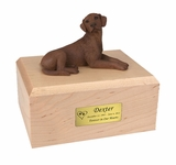 Chocolate Labrador Dog Figurine Pet Cremation Urn - 144