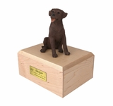 Chocolate Labrador Dog Figurine Pet Cremation Urn - 147