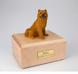 Chow Chow Dog Figurine Pet Cremation Urn - 054