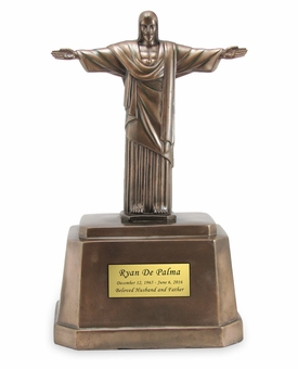 Christ The Redeemer Cold Cast Bronze Finish Cremation Urn