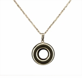 Circle 14kt Gold Cremation Jewelry Necklace