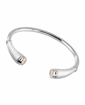 Citrine Birthstone Reed Cuff Polished Sterling Silver Cremation Jewelry Bracelet