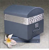 Clark 12 Gauge Midnight Blue Stainless Steel Urn Burial Vault