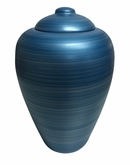 Classic Blue Oceane Sand and Gelatin Biodegradable Cremation Urn