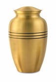 Classic Bronze Brass Cremation Urn - Engravable