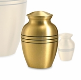 Classic Bronze Brass Extra Small Cremation Urn - Engravable