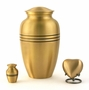 Classic Bronze Heart Brass Keepsake Cremation Urn - Engravable