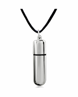 Classic Cylinder Stainless Steel Cremation Jewelry Pendant Necklace - 3 Sizes