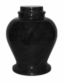 Classic Ebony Marble Medium Cremation Urn
