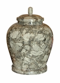 Classic Oceanic Marble Cremation Urn