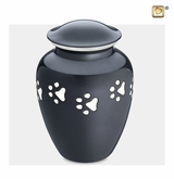 Classic Paw Print Large Pet Cremation Urn
