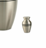 Classic Pewter Brass Keepsake Cremation Urn - Engravable