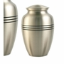 Classic Pewter Brass Medium Cremation Urn - Engravable
