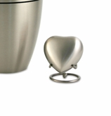 Classic Pewter Heart Brass Keepsake Cremation Urn - Engravable