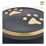 Classic Round Paw Print Small Pet Cremation Urn