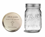 Clear Mason Jar Cremation Urn