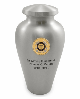Coast Guard Emblem Pewter Arlington Cremation Urn - Engravable