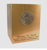 Coast Guard Sheet Bronze Snap-Top Cremation Urn