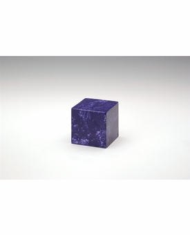 Cobalt Small Cube Cremation Urn - Engravable