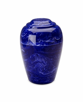Cobalt Small Grecian Cremation Urn - Engravable