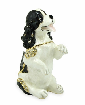 Cocker Spaniel Jeweled Keepsake Cremation Urn