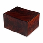 Cognac Tiger Wood Burl Cremation Urn
