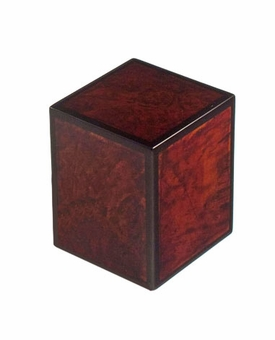 Cognac Tiger Wood Burl Keepsake Cremation Urn