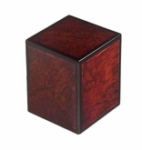 Cognac Tiger Wood Burl Small Cremation Urn