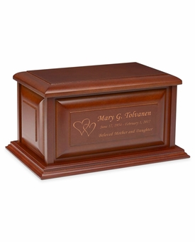 Colonial Cherry Finish MDF Wood Cremation Urn