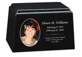 Color Photo Granite Promise Cremation Urn - 14 Colors - 3 Sizes
