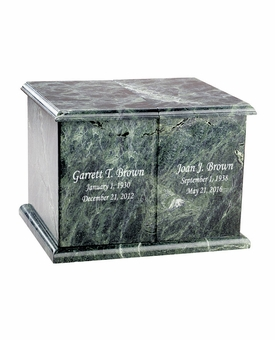 Companion Green Marble Engravable Cremation Urn