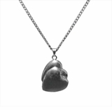 Companion Heart Sterling Silver Cremation Jewelry Necklace