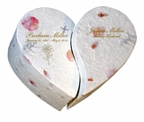 Companion Unity Floral Heart Biodegradable Cremation Urn
