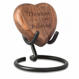 Complete Me Walnut Heart Keepsake Box
