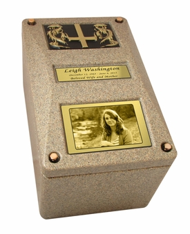 Constellation Urn Burial Vault with Photo Option - 5 Color Choices