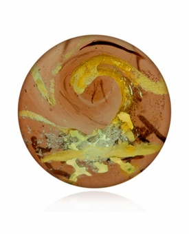 Copper Cremains Encased in Glass Cremation Healing Stone