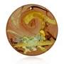 Copper Cremains Encased in Glass Cremation Sun Catcher