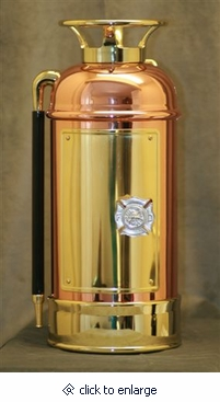 Copper Fire Extinguisher Firefighter Cremation Urn