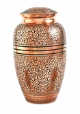 Copper Oak Brass Cremation Urn