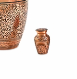 Copper Oak Brass Keepsake Cremation Urn