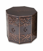 Copper Rainbow Bridge Paw Print Service Cremation Urn - 3 Sizes