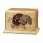 Country Lane Cherry Wood Cremation Urn