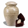 Cream Wash Marble Cremation Urn