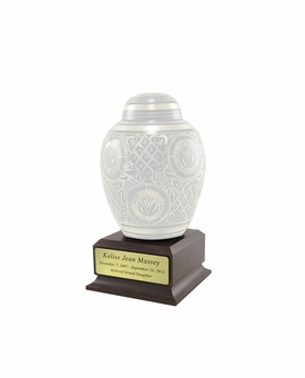 Cremation Urn Pedestal With Nameplate - Small
