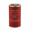 Crimson Tealight Memory Keepsake Candle Cremation Urn