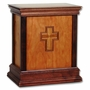 Cross Cherry Hardwood Handcrafted Cremation Urn by WoodMiller