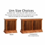 Standard Walnut Hardwood Handcrafted Cremation Urn by WoodMiller