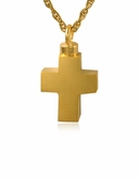 Cross Gold Vermeil Cremation Jewelry Pendant Necklace