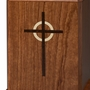 Cross Heirloom Bubinga Wood Cremation Urn