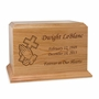 Cross in Praying Hands Ambassador Solid Cherry Wood Cremation Urn